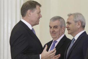 Iohannis, Dragnea si Tariceanu in lupta